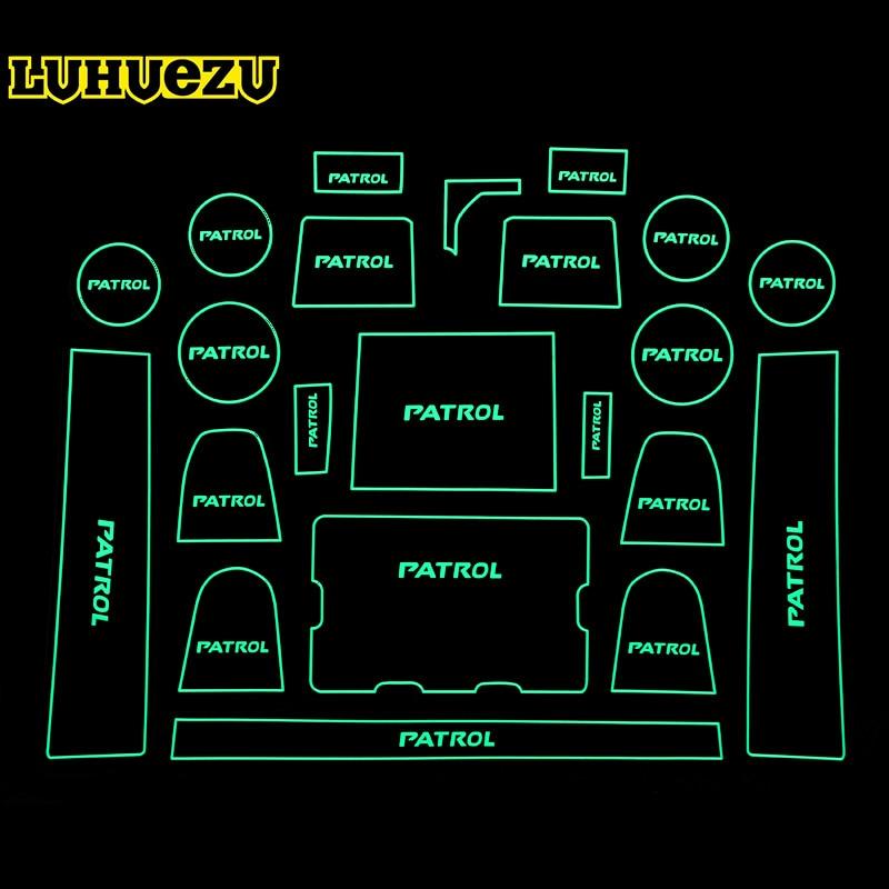22PCS Rubber Non-Slip Interior Door Mat For Nissan Patrol Y62 Armada 2013 2014 2015 2016 2017 Accessories