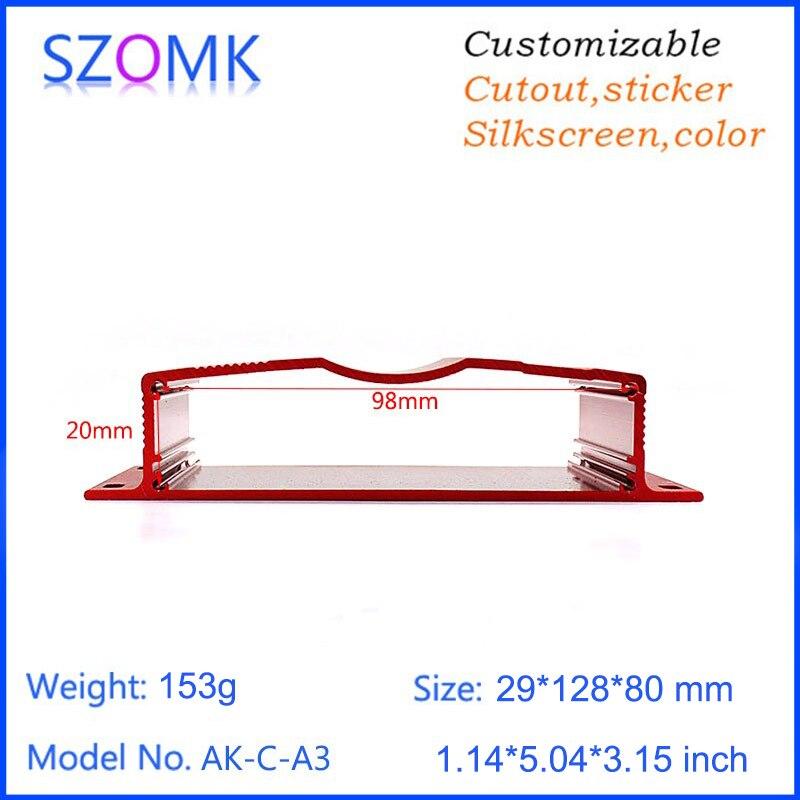 1 piece 29*128*80mm szomk hot sales aluminum enclosure box wall mounting extrusion enclosure GPS tracker aluminum housing box