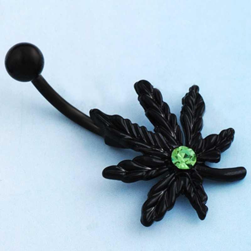 שחור עלה אדר טבור פירסינג נשים פירסינג מייפל טבור טבעות להתנדנד Pircing תכשיטים