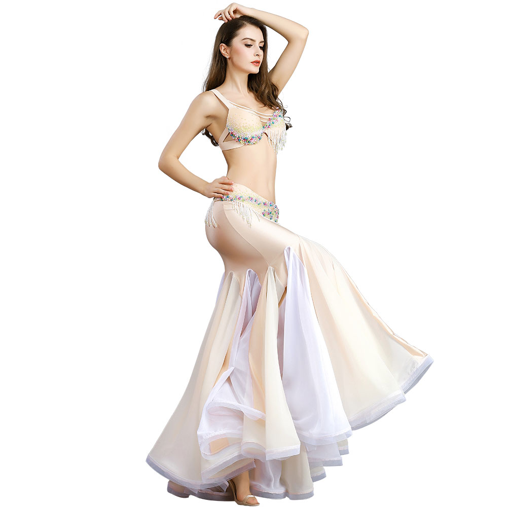 2019 Free Shipping New Women's high quality sexy belly dance set/costume/belly dancing clothes/bellydance Bra&Belt&Skirt -8826