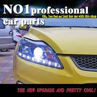 Автомобильный Головной фонарь 2009 2013 для Ford Focus 2 фар MK2 год светодиодные фары DRL Двойной Луч объектива HID ксеноновая лампа передний свет
