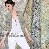4 color high grade gold jacquard fashion fabrics wave sky small suit Kok pants production fabrics clothing fabrics