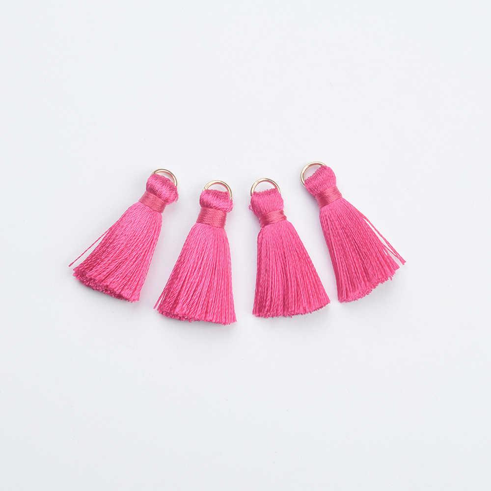 LUBINGSHINE 10 шт/партия смешанные цвета хлопок искусственный шелк, атлас маленькие кисточки подвески для рукоделия материал для бижутерии Аксессуары