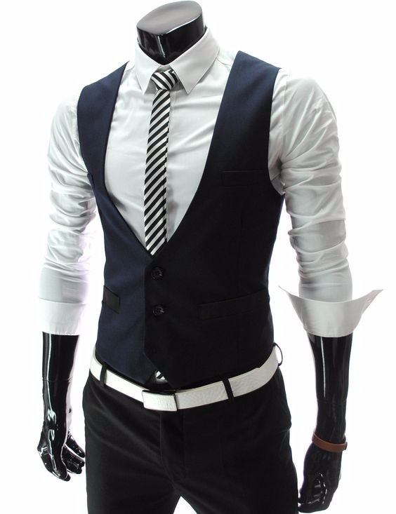 2017 Latest Coat Pant Designs Navy Blue Black Men Vest Fashion Waistcoat Casual Custom Groom Prom Dinner Vests Terno Masculino