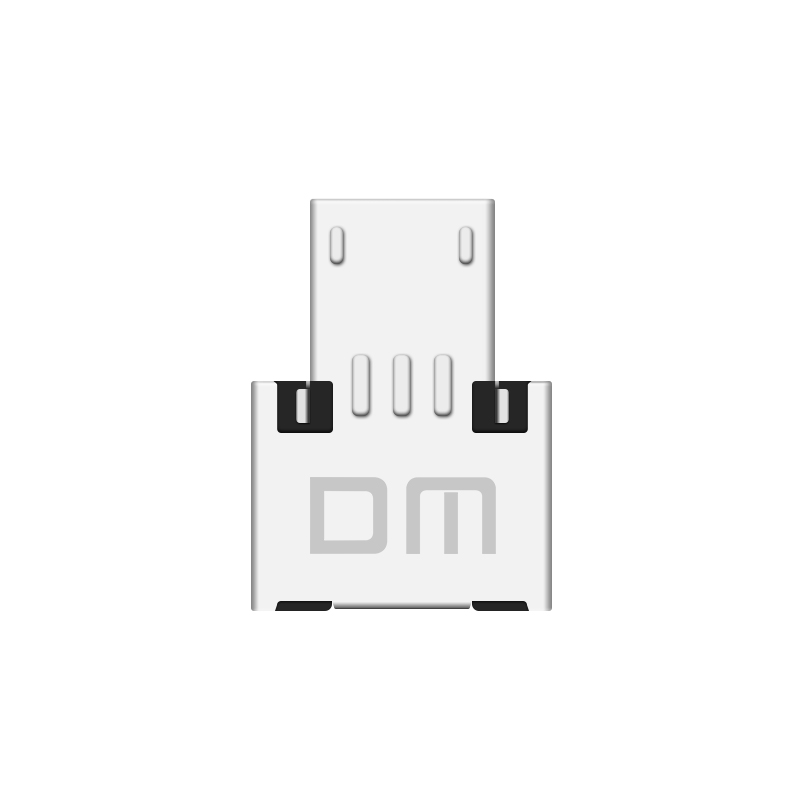 Image 4 - Free shipping New DM OTG adapter 100pcs/lot OTG function Turn normal USB into Phone USB Flash Drive Mobile Phone Adapters-in Memory Card Adapters from Computer & Office