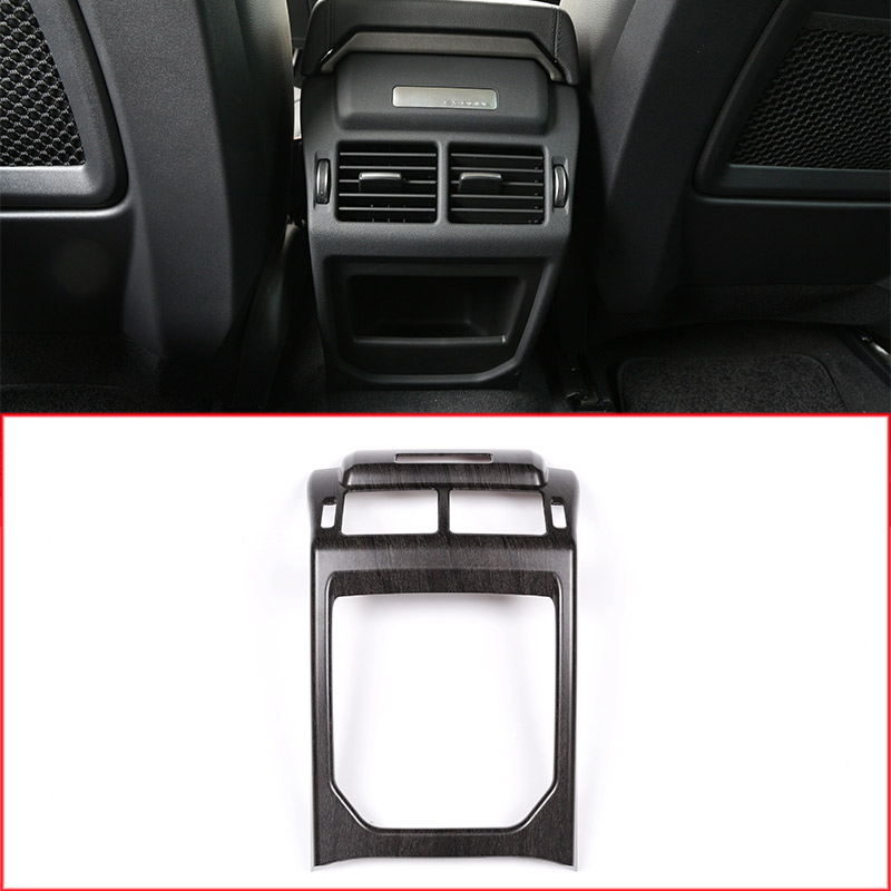 Oak Wood Colour Car Interior Rear Row Air Conditioning Vent Frame Trim For Land rover Range Rover Evoque 2012-2017 Accessory center armrest rear back row passenger air vent decorative cover sticker trim for range rover evoque interior accessories