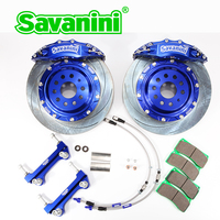 SAVANINI Brand S66A Big 6 Piston Brake Caliper kit for VW Golf 6/7 GTI Sciocco Ocativa PQ35 PQ46 MQB aluminum Front Wheel 355