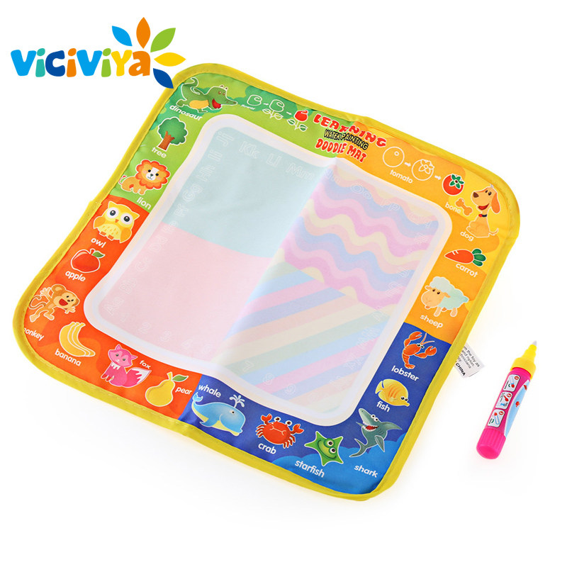 29x30CM Drawing Toys Water Drawing Mat Kids Educational Aqua Doodle Board Painting Writing Doodle With Magic Pen Non-toxic*