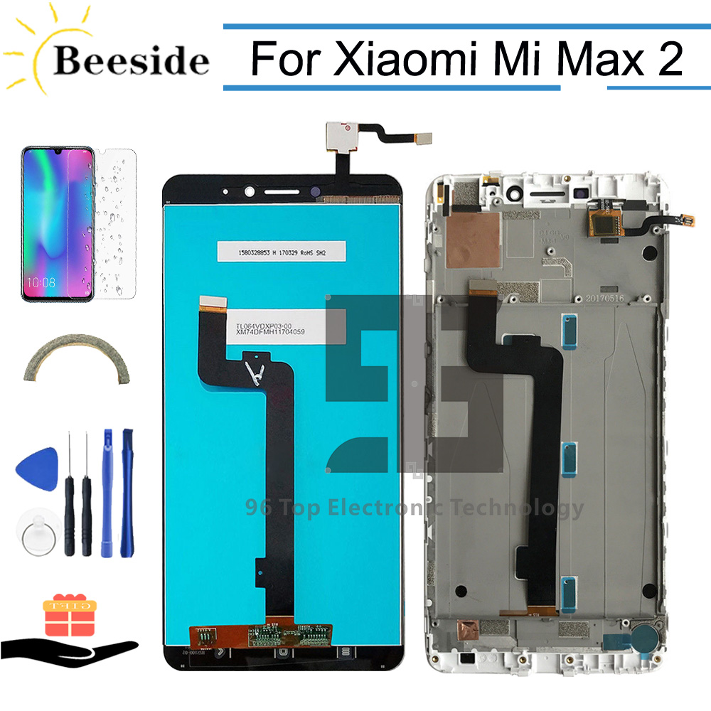 AA+ Quality LCD with Frame 6.44'' For <font><b>Xiaomi</b></font> <font><b>Mi</b></font> <font><b>Max</b></font> 2 MDE40 MDT4 LCD <font><b>Display</b></font> Touch Screen Digitizer Assembly Replace image