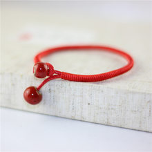Ceramic Beads Charm Bracelet Link Cuff Bangles Red String Weave Rope Bracelets For Women Lover Jewelry Adjustable Wristband Gift(China)