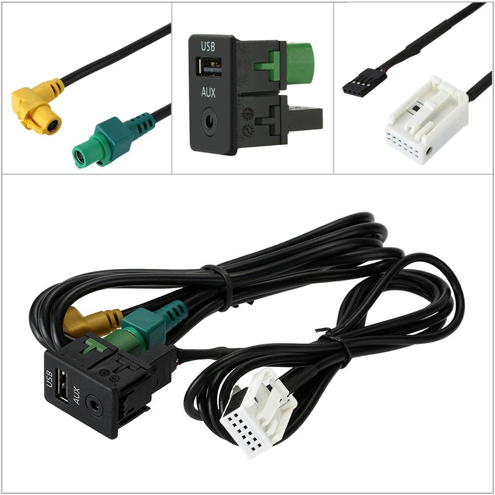 auto usb aux audio kabel schalter stecker f r vw passat b6. Black Bedroom Furniture Sets. Home Design Ideas