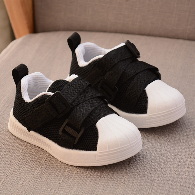 Autumn 2019 Childrens Shoes Net Cloth Casual Shoes Boys Girls Sports Soft Bottom Fashion Sneakers For Girls Boys Size 21-30 Girls