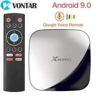 X88 PRO 4 Caixa de TV Android 9.0 GB RAM 128GB GB 32 64GB RK3318 Assistente de Voz do Google Quad núcleo Wifi 4K X88PRO 2GB 16GB set top box