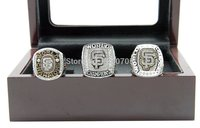 Hot Sell MLB San Francisco 2pcs Fans Championship Rings Copper Rings With A Wooden Box