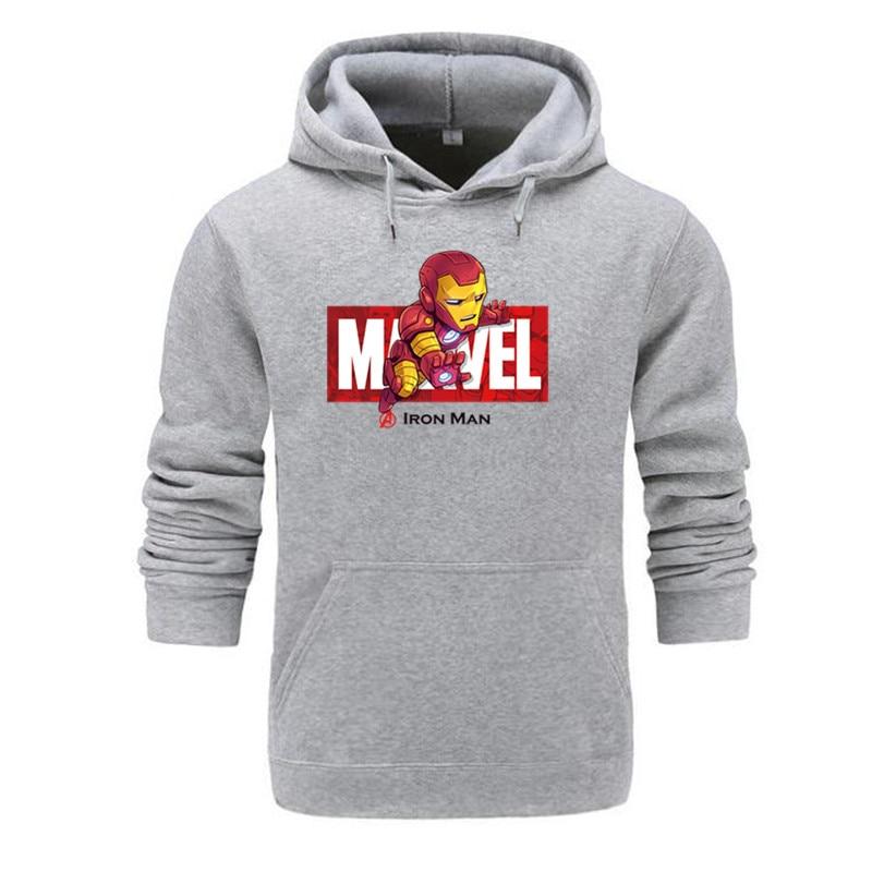 Marvel The Avengers 4 Iron Man Spiderman Cosplay Costume Hoodies Unisex Avengers Casual End Game Sweatshirt Jacket Streetwear
