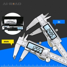 AI-ROAD Metal 6-Inch 150mm Stainless Steel Electronic Digital Vernier Caliper Micrometer Measuring недорого