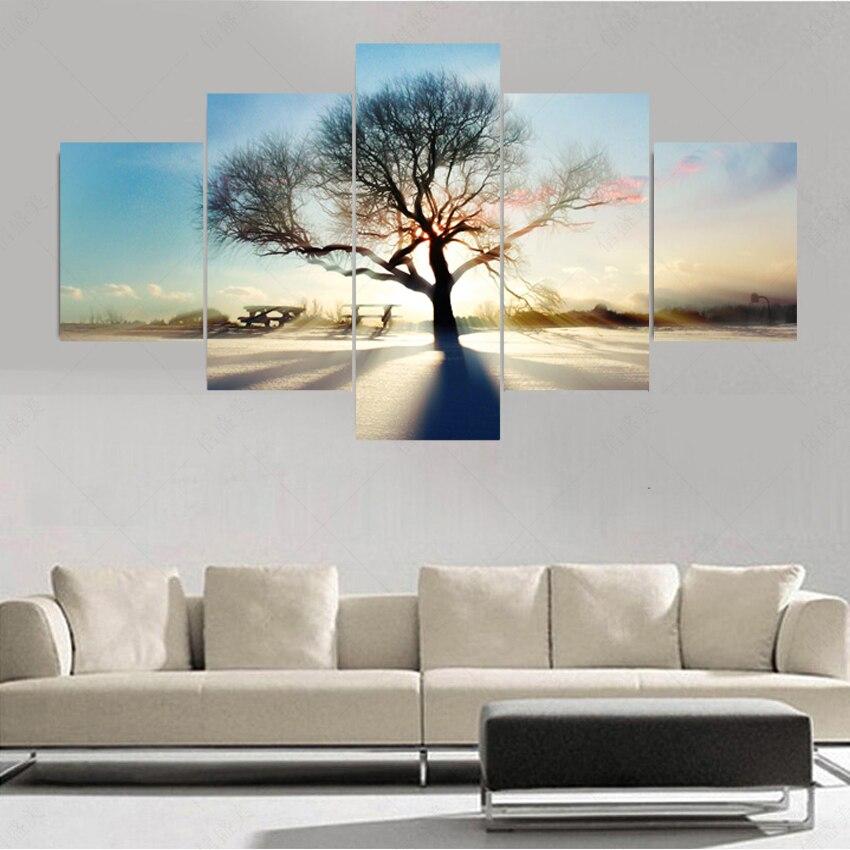 ⑤5 panel moderno (no Marcos) cuadros decoracion árboles Ramos ...