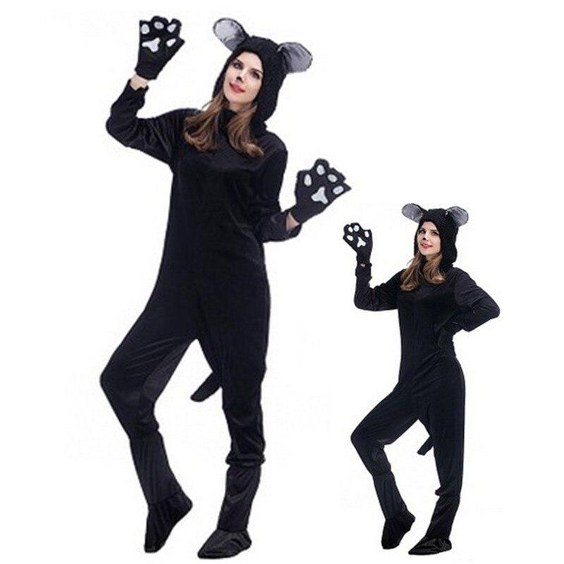 Unisexe adulte souris Cosplay Halloween ours animaux Costumes chat Kigurumi hiver combinaison pyjamas noël mascarade fête robe
