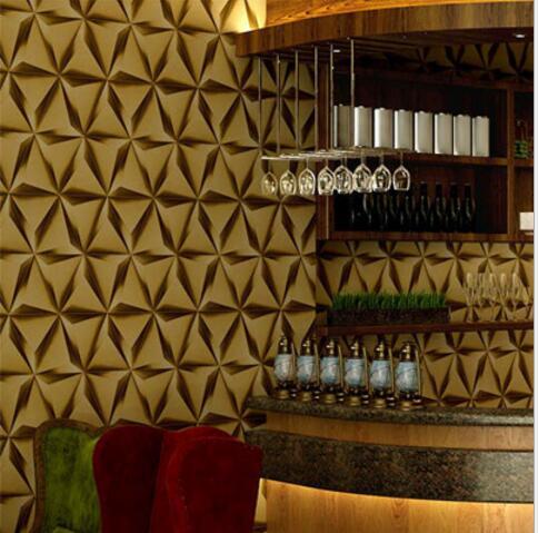 3d Moderne Imitation Cuir Losange Texture Papier Peint Canape Tv