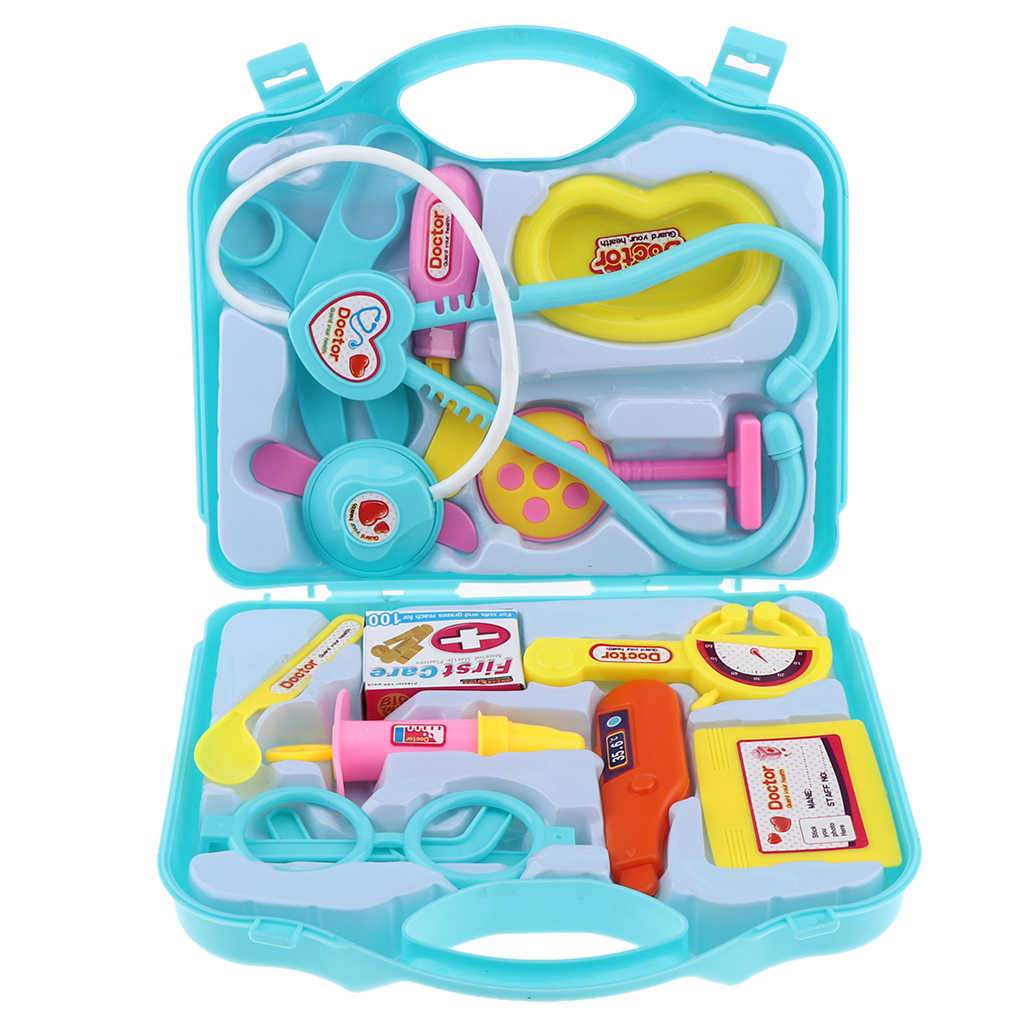 3 Colors Doctor Kit Kids Pretend Play Toy Medical Set&Case Doctor Nurse Play Games Playset Toys Accessory For Girl Children