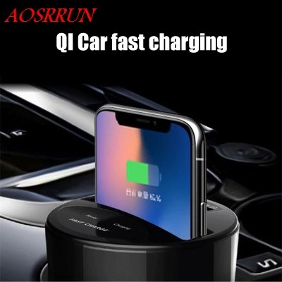 Car Mount Qi Wireless Charger fit For SEAT Mii Ibiza Leon Toledo Arona Ateca Alhambra Quick Charge Fast Wireless Charging Pad tronsmart ts cc2pc quick charge 2 0 two port car charger for galaxy s6