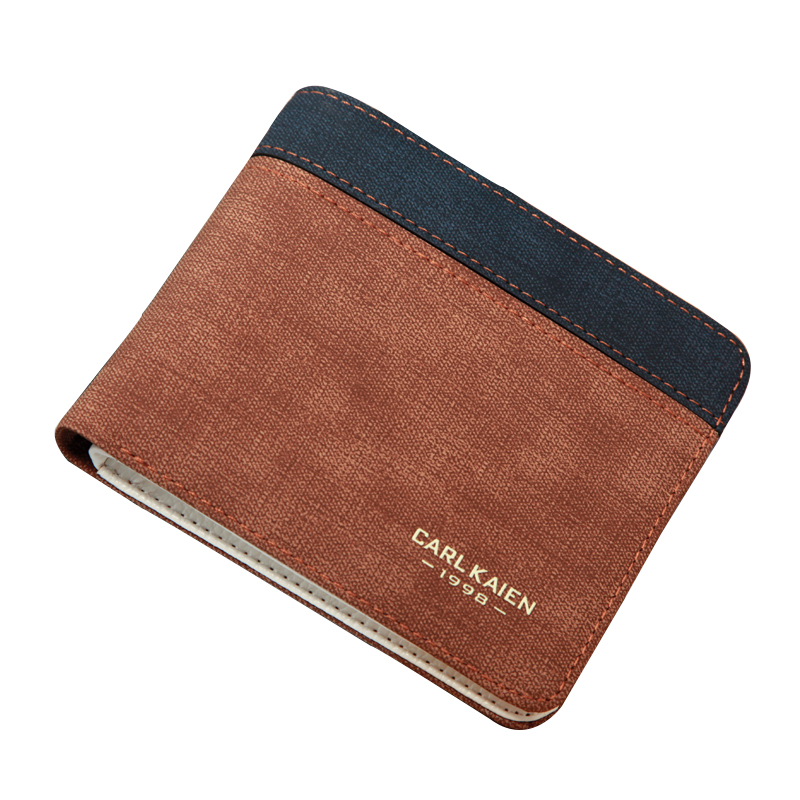 Men Wallet Canvas Card Coin Holder 2017 Hot Thin Clip High Quaity Casual Short Small Photo Cash Pocket Dollar Price Male Purse