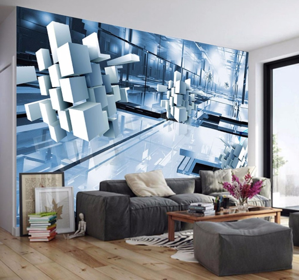 Fototapete Modernes design 3D stereo grafiken wohnzimmer hotel ...