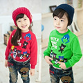 2016 Autumn Baby  hoodies cotton long sleeve children clothing kids pullovers lovely for boys girls warm clothes HW1506