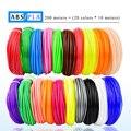 WEIYU 3 D 10 Oder 200 Meter/Farbe 1,75mm ABS/PLA Material 3D PLA Filament Für 3D stift Filament ABS Kunststoff 3D Stifte Liefert Farbe