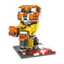 LOZ 9713 Kung Fu Panda The Furious Five Tigress Diamond Bricks Minifigures Building Block Minifigure Toys Gift