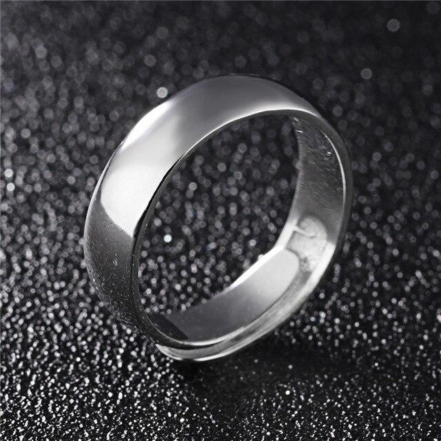 Gagafeel uomini gioielli originali 925 sterling silver ring belle liscia design aperto ridimensionabile 3 tipo di superficie larghezza wedding bijoux nuovo