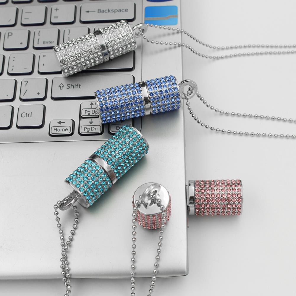 Smycken Mini USB Stick 2.0 Pendrive 512 GB USB Flash Drive 1TB 2TB Real Capacity Crystal Pendrive 64 GB / 8 GB / 16 GB / 32 GB Flickåkomst