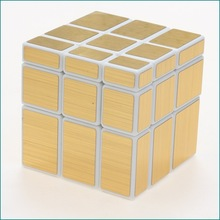ShengShou Toys Turns Quicker and More Precisely Super-durable 3 x 3  Mirror Cube Puzzle White body with Golden and Silver