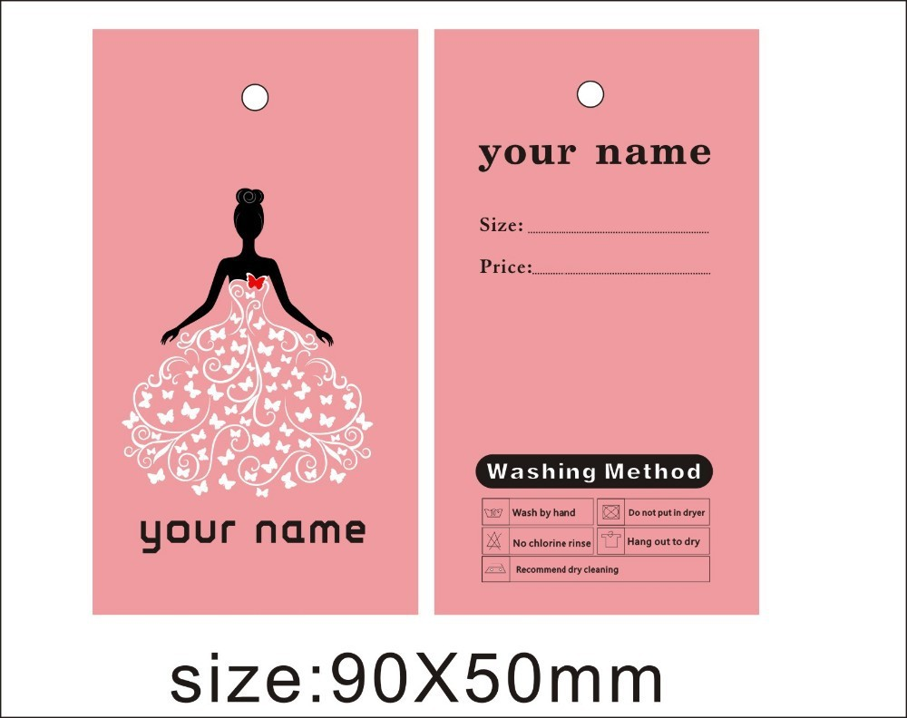 custom print evening dreess\' hang tags wedding dress tags , custom ...