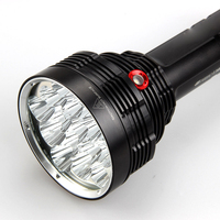 16 Core T6 Flashlight LED High Power 18650 Rechargeable Flashlight without battery