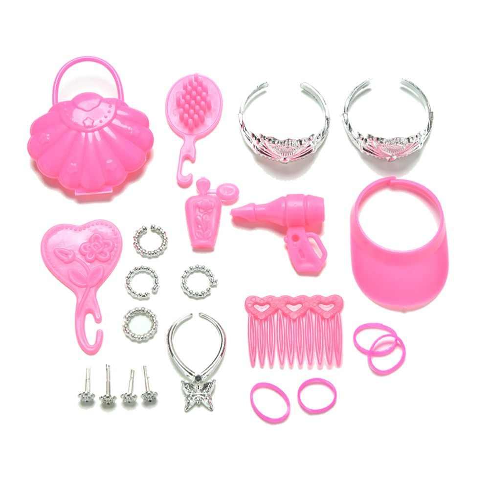Розовый цвет вешалки аксессуары обувь сумка вешалка расческа браслет для кукол игрушки Детский подарок кукла аксессуары цвет красочные девушки игрушка подарок