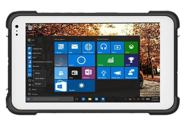 "China Terminal De Mano 8 ""Industrial Rugged Tablet Windows 10 UNID Ordenador MINI Escáner de código de Barras 2D Teléfono A Prueba de agua GPS Titular"