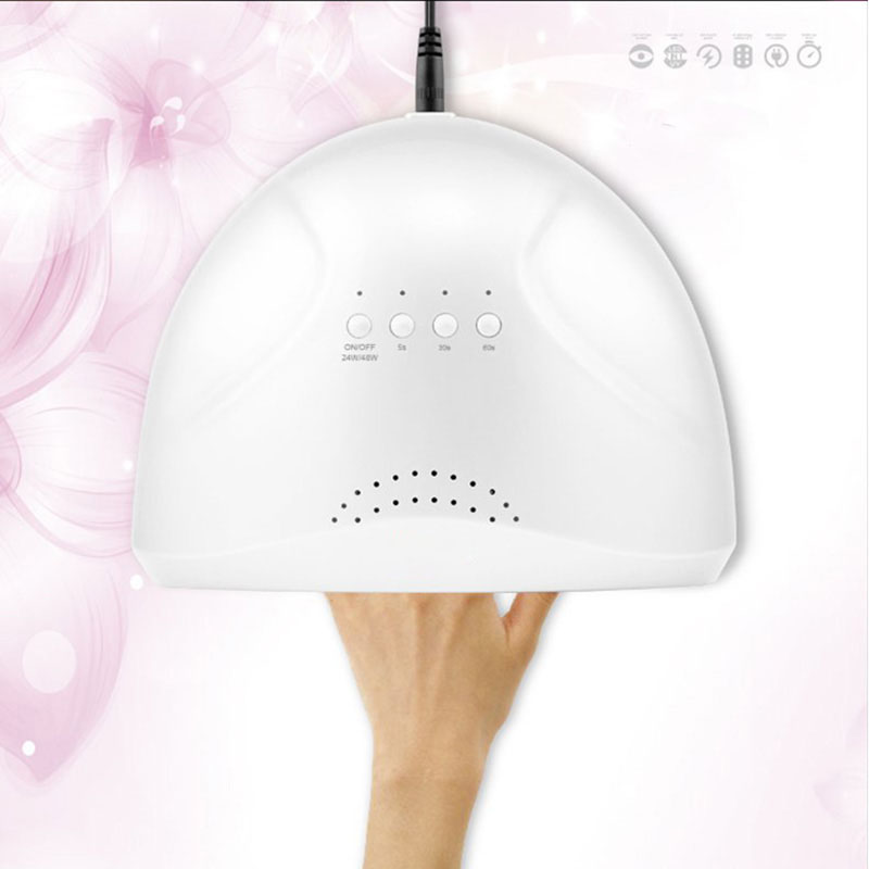 48 w Professionnel Nail Lampe LED Manucure Lampe UV Nail Sèche pour le Gel UV LED Gel Nail Machine Infrarouge Capteur nail machine