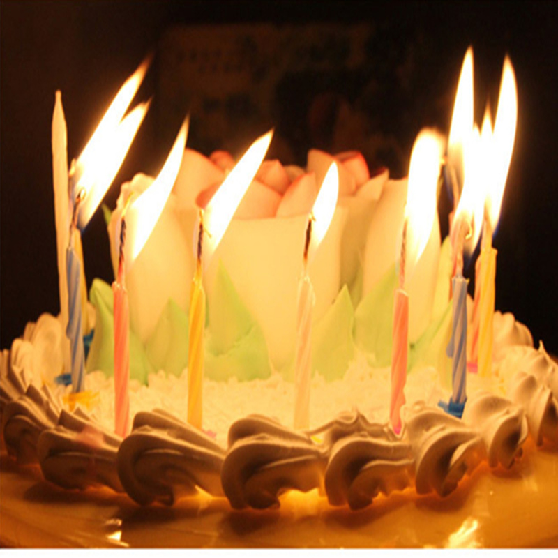 2packs20pcs High Quality Colorful Birthday Cake Candles With