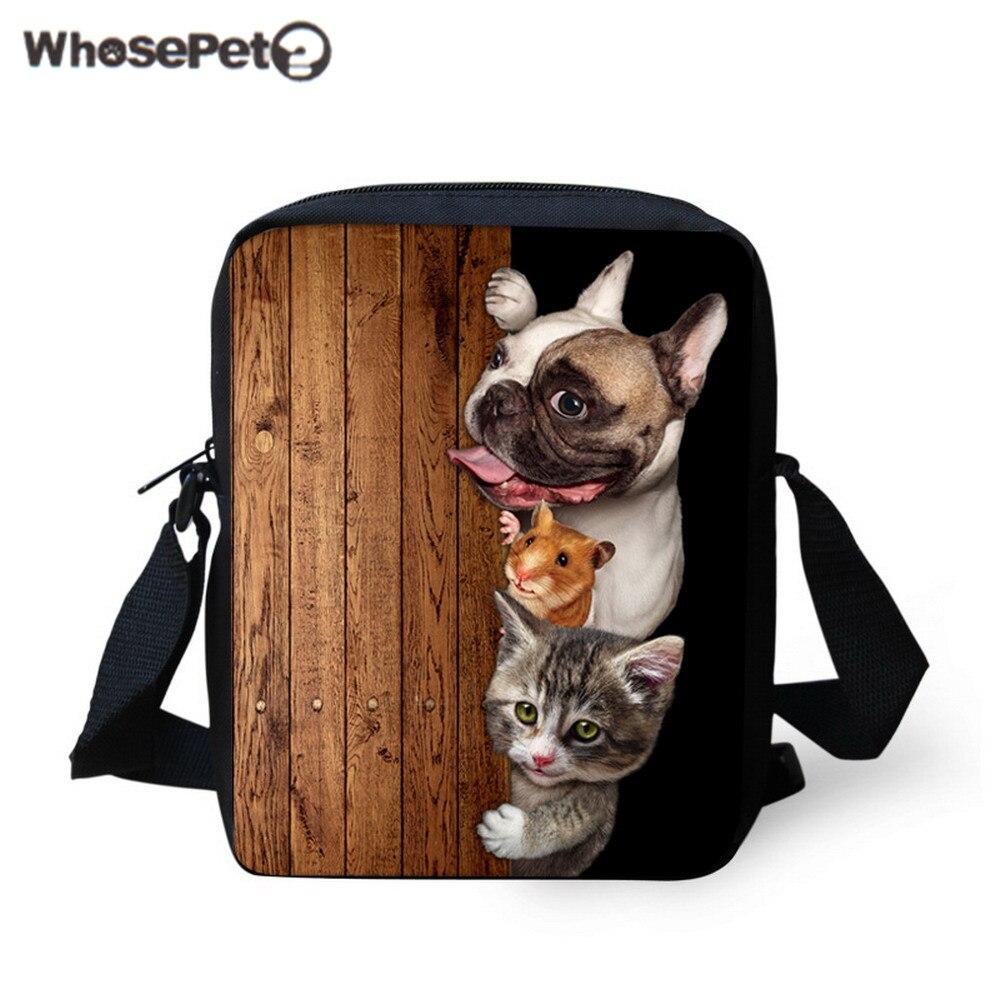 Dynamisch Whosepet-neue 2017 Mode Frauen Messenger Taschen Tiere Muster Handtaschen Für Mädchen Jungen Nette Hund Katze Schulter Taschen Männer Nette Tote Tasche Gepäck & Taschen