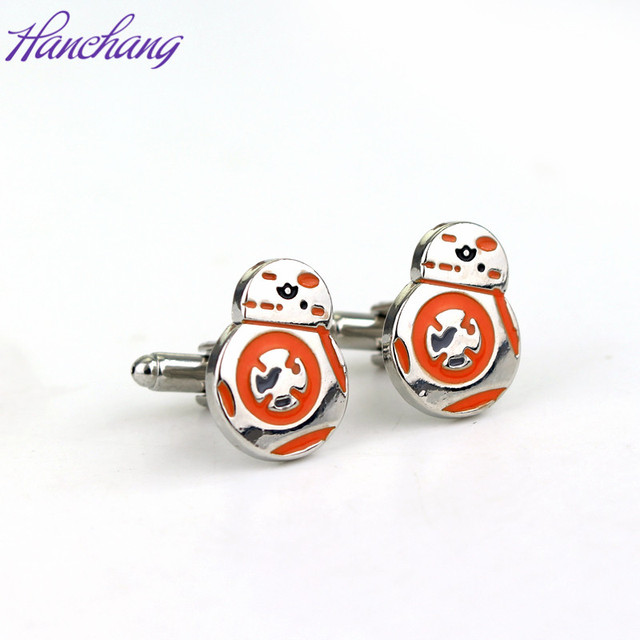 Hanchang Jewelry Star Wars Cufflinks Robot Cuff Links Buttons Men's