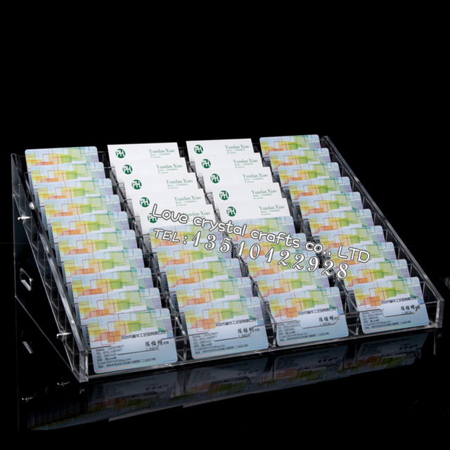 2016 hot sale business card display rack 40 grid business exhibition 2016 hot sale business card display rack 40 grid business exhibition hall supplies acrylic business card colourmoves