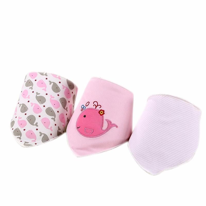 3pcsset Baby Bibs Cotton Bandana Bibs Newborn Baby Girls Boys Infant Babador Saliva Bavoir Towel baberos bebes Babadores WZ001 (6)