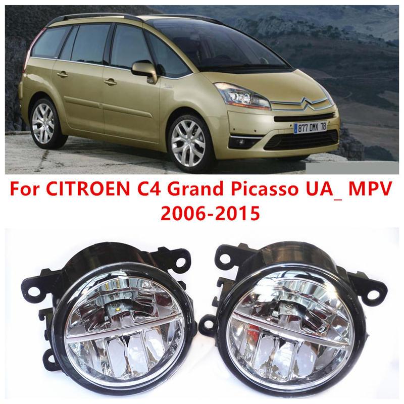 For CITROEN C4 Grand Picasso UA_ MPV  2006-2015 Fog Lamps LED Car Styling 10W Yellow White 2016 new lights коврик в багажник citroen grand c4 picasso 09 2006