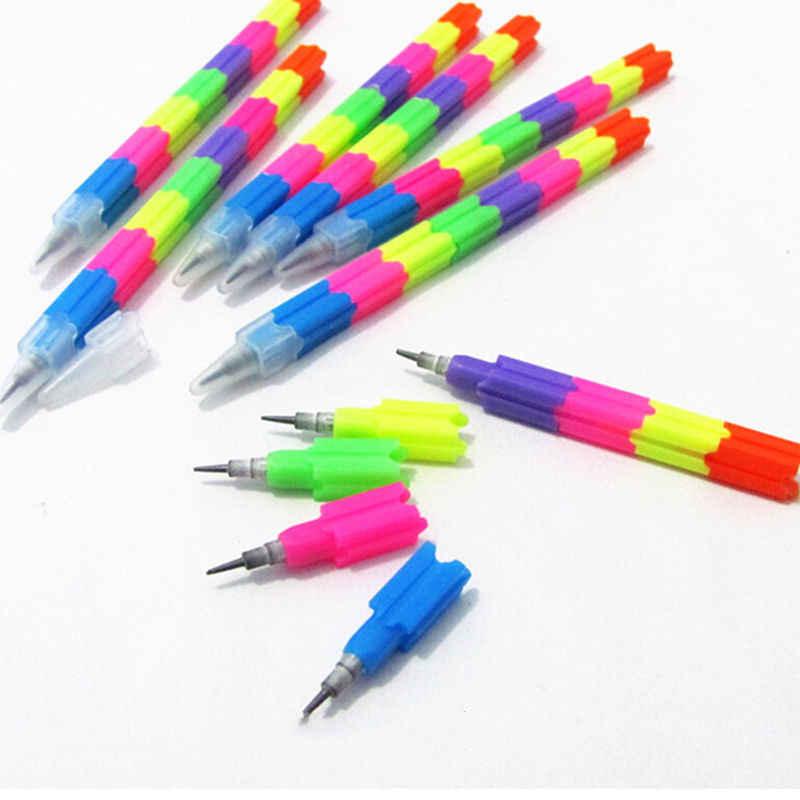 4 ชิ้น/ล็อต Building Block ดินสอดินสอเด็กโรงเรียนอุปกรณ์สำนักงานรางวัลของขวัญเครื่องเขียน
