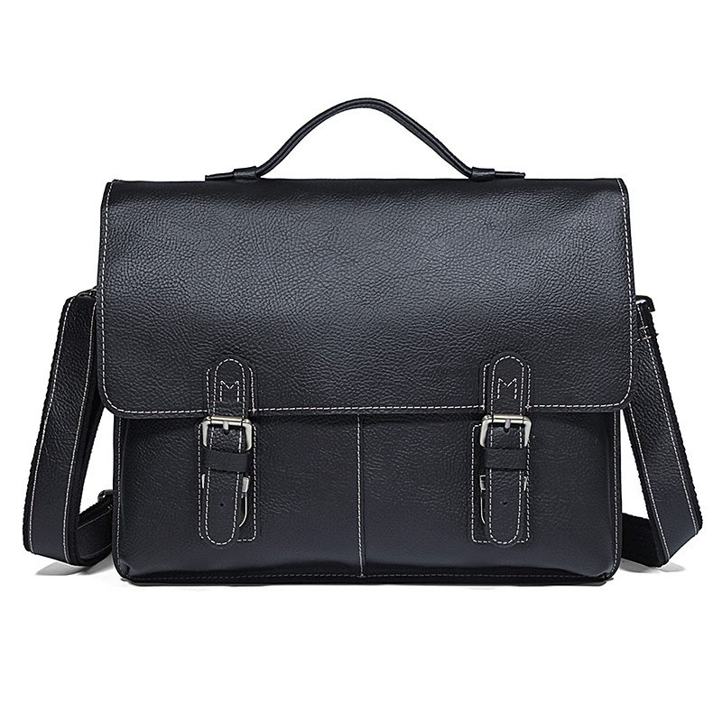 Design Männer brown Echtem Klassische Einzigartige Aktentaschen Aus Computer Schwarz Busniess Leder Black Handtasche Tasche Laptop Kuh wZgFw5rq