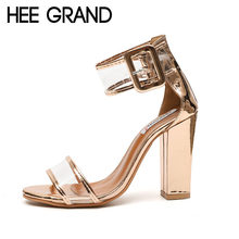 HEE GRAND 2018 Women's High Heel Sandals Women Summer Shoes Fashion Dancing Sandals Sexy Party Wedding Shoes XWZ4769(China)