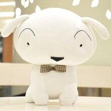 2015 Dog Dolls, Handmade Cute Puppy, Plush Toy Doll, Valentine's Day Gift Crayon Soft White Plsh Doll Dog Baby Gift