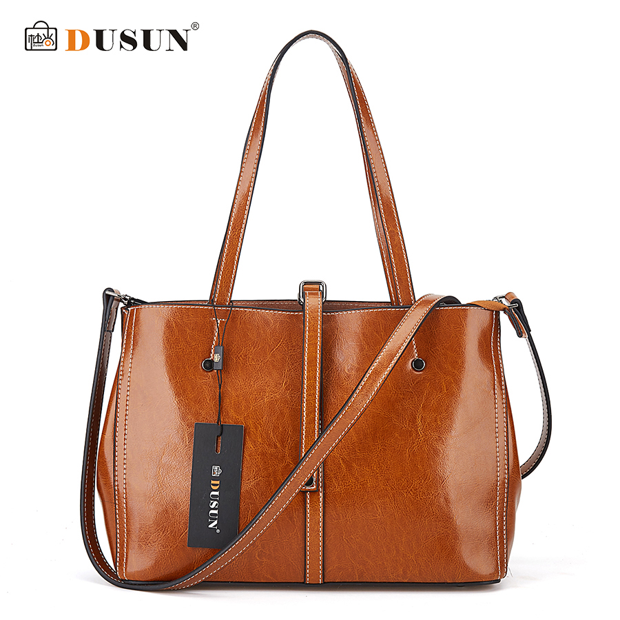 DUSUN Brand Messenger Bags Women Designer Vintage Shoulder Bag Ladies Genuine Leather Handbags Female Black Crossbody Bags 2017 все цены