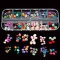 MIX34  Free Shipping  12Styles Mix Stone  Shapes Resin Nail Accessories 3D Nail Art Decoration Fashion DIY Nail Tips